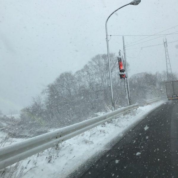 雪☆雪☆雪☆ですが夏タイヤホイールでしょ(^o^)/